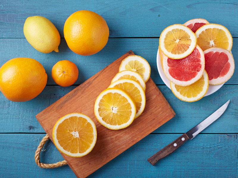 how to dehydrate citrus fruits