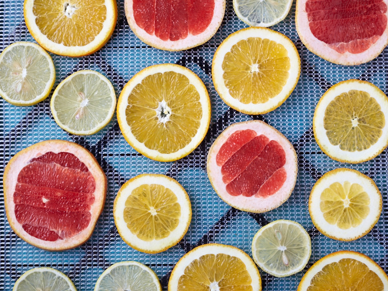 how to dehydrate citrus fruits step 2
