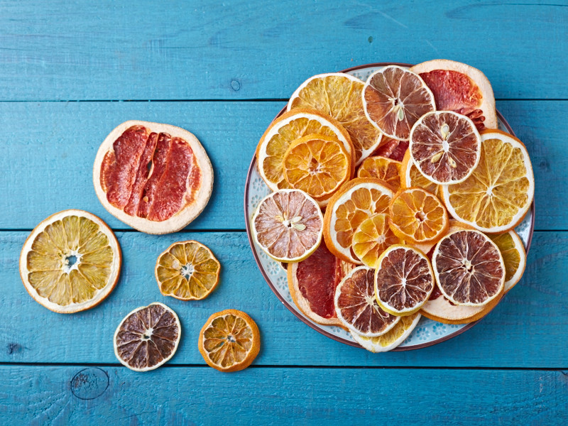 how to dehydrate citrus fruits step 3